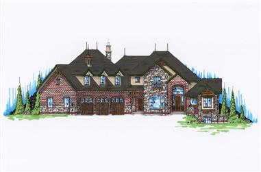 4-Bedroom, 4266 Sq Ft Luxury House - Plan #135-1093 - Front Exterior