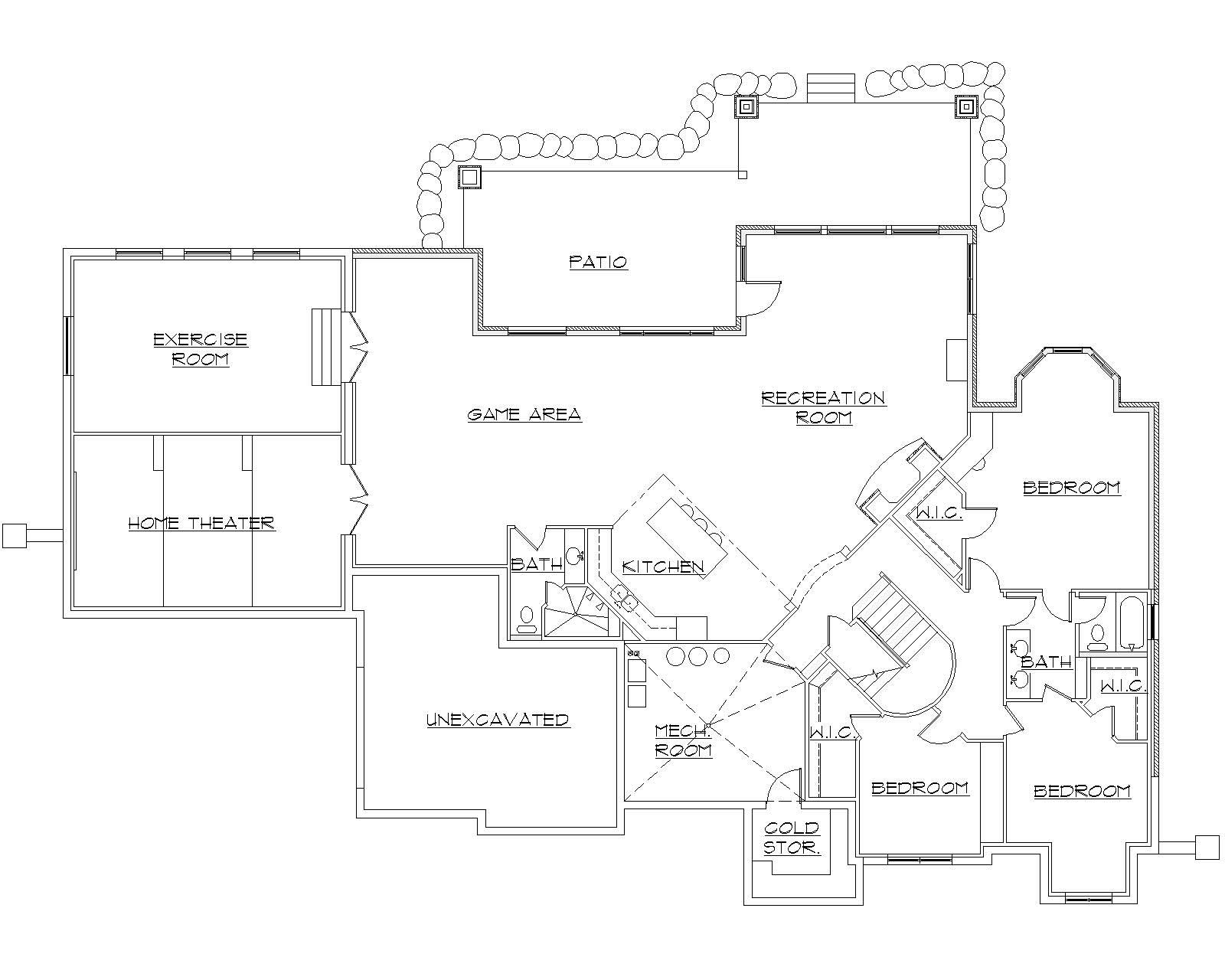 European House Plans With Basement 28 Images Eplans