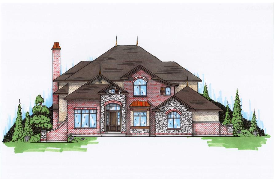 6-Bedroom, 5564 Sq Ft Luxury House Plan - 135-1096 - Front Exterior