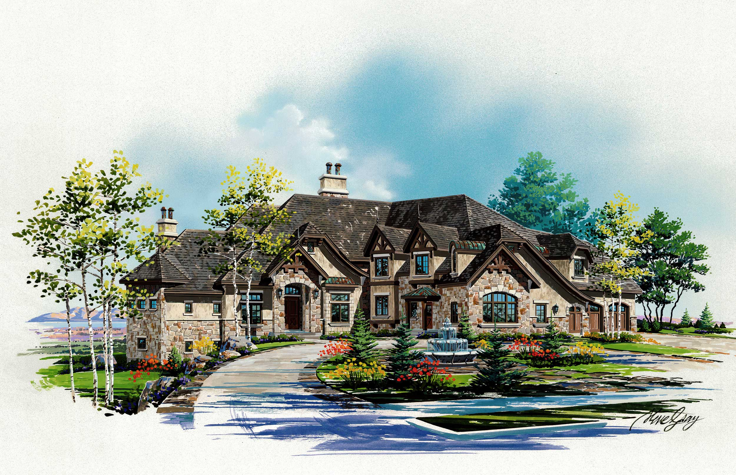 Luxury Home with 6 Bdrms, 6175 Sq Ft | Floor Plan #107-1002