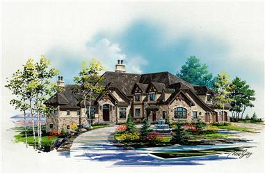6-Bedroom, 7102 Sq Ft Craftsman Home Plan - 135-1097 - Main Exterior