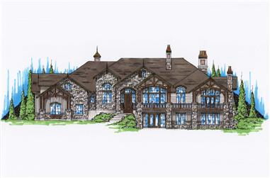 5-Bedroom, 4353 Sq Ft Country Home Plan - 135-1099 - Main Exterior