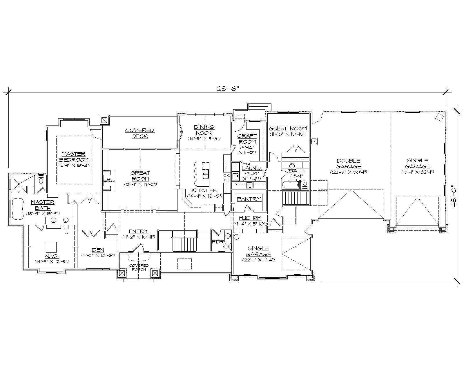 Craftsman House Plans Home Design Vh Ts3389