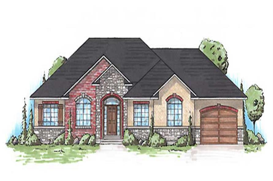 3-Bedroom, 1695 Sq Ft Small House Plans - 135-1105 - Main Exterior