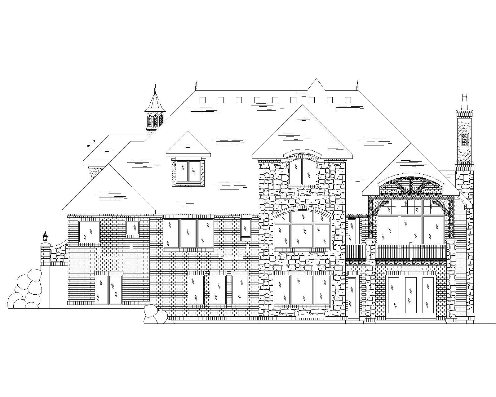 Luxury European House Plans Home Design Vh Ts4219