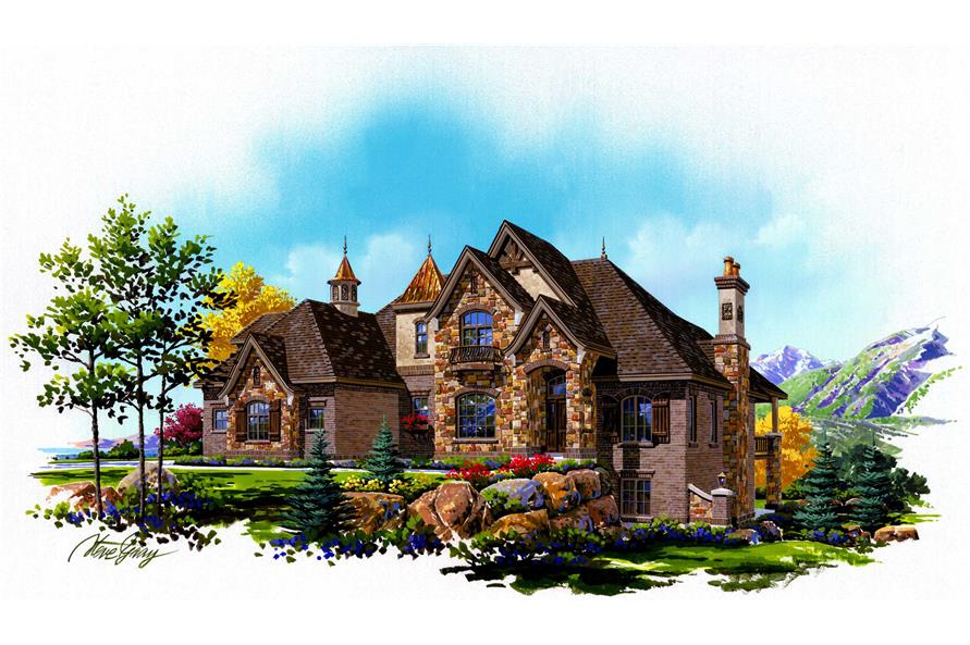6-Bedroom, 4219 Sq Ft European House Plan - 135-1109 - Front Exterior