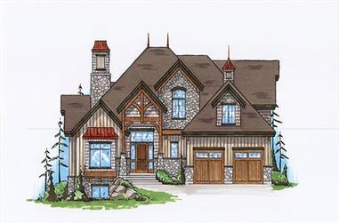 2-4 Bedrooms, 3042-4595 Sq Ft Rustic Home Plan - 135-1113 - Main Exterior