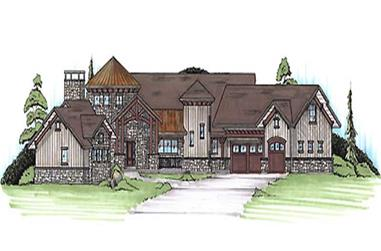 4-Bedroom, 4109 Sq Ft House Plan - 135-1118 - Front Exterior