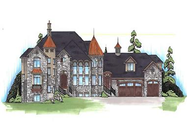 8-Bedroom, 5561 Sq Ft European Home Plan - 135-1119 - Main Exterior