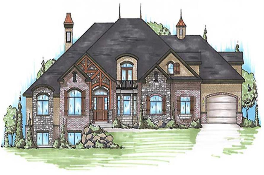 6-Bedroom, 5078 Sq Ft European Home Plan - 135-1120 - Main Exterior