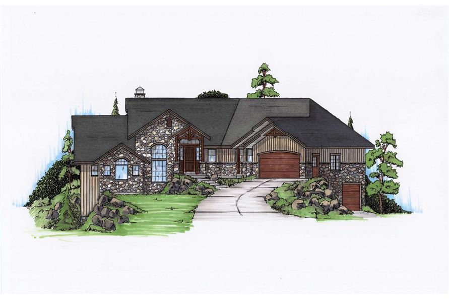 4-Bedroom, 2282 Sq Ft House Plan - 135-1122 - Front Exterior