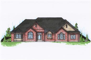 5-Bedroom, 2735 Sq Ft Ranch House Plan - 135-1125 - Front Exterior