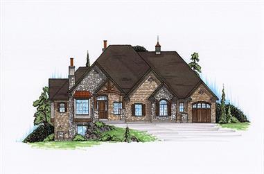 5-Bedroom, 2489 Sq Ft Home Plan - 135-1126 - Main Exterior