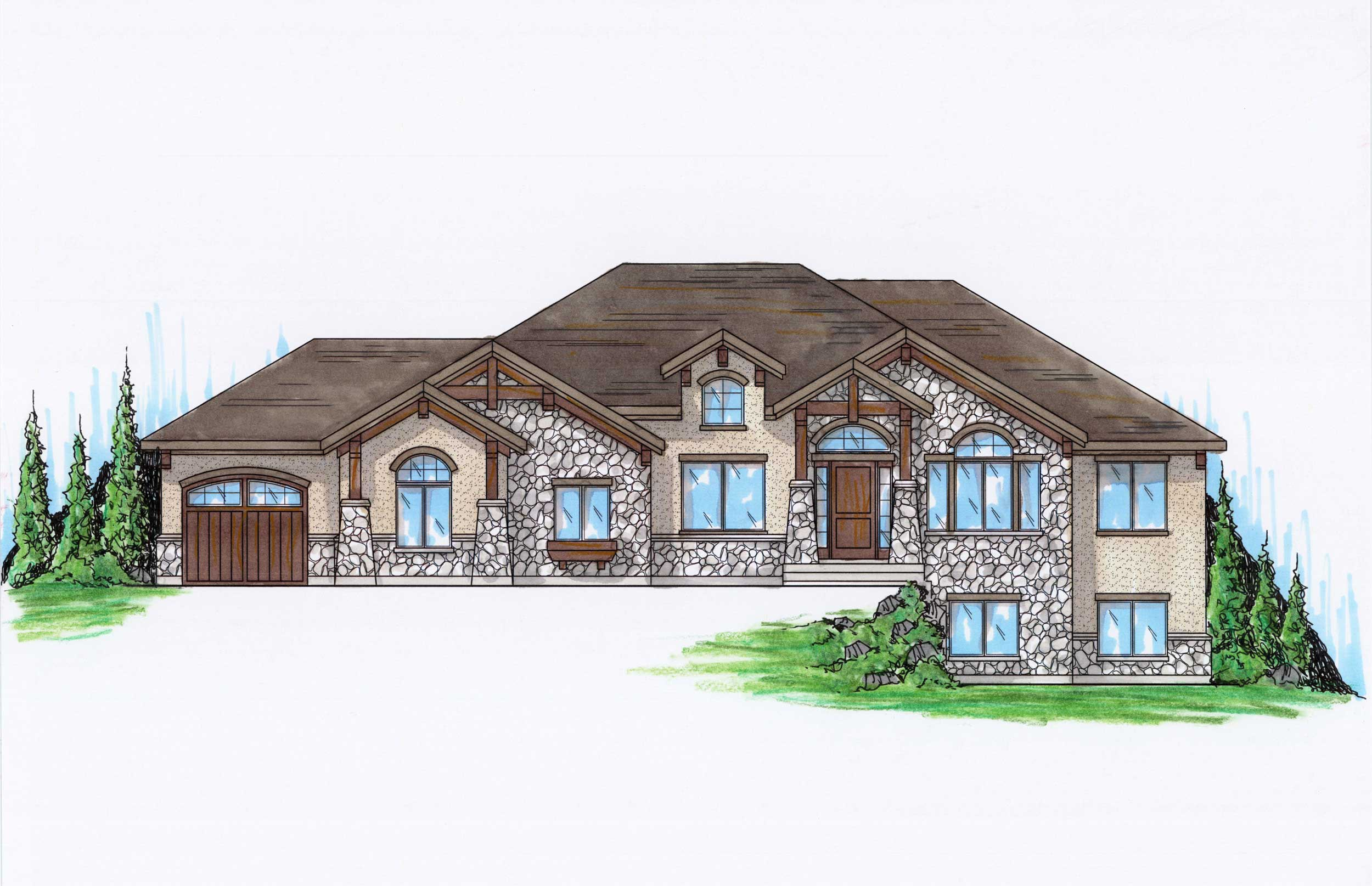 Country House Plans Home Design Vh R2091