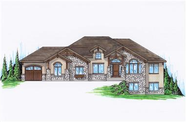 6-Bedroom, 2091 Sq Ft Country Home Plan - 135-1129 - Main Exterior