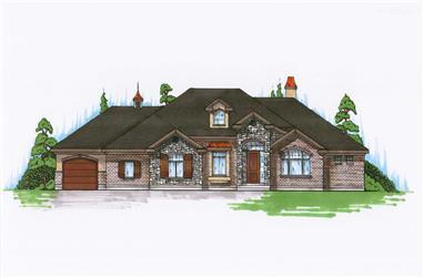 4-Bedroom, 2312 Sq Ft Ranch Home Plan - 135-1130 - Main Exterior