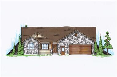 6-Bedroom, 1821 Sq Ft Ranch House Plan - 135-1133 - Front Exterior