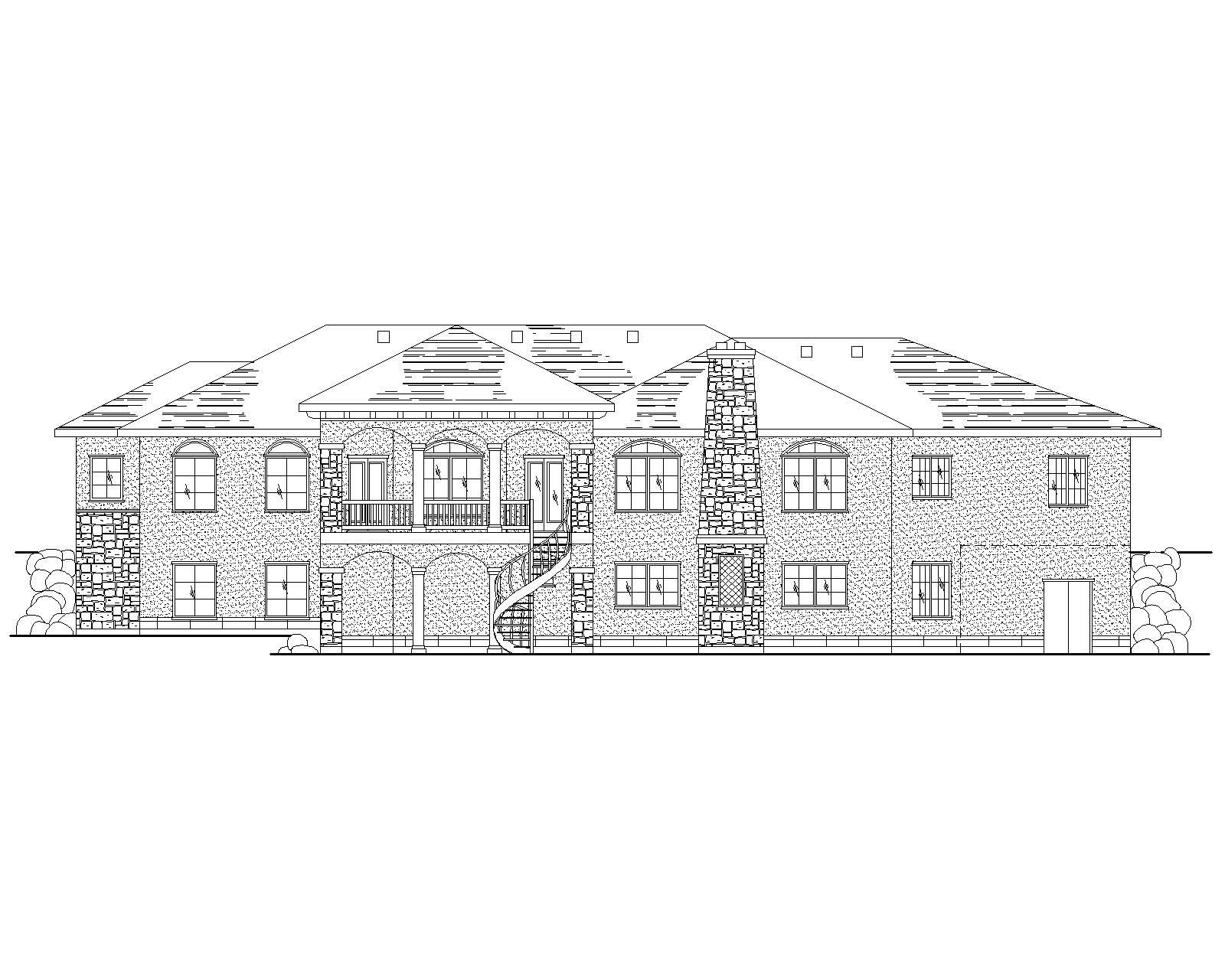 Spanish Mediterranean House Plans Home Design Vh R2398