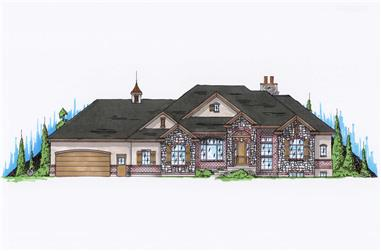 4-Bedroom, 2282 Sq Ft Country Home Plan - 135-1137 - Main Exterior