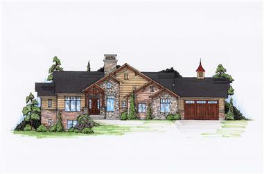 4-Bedroom, 2110 Sq Ft Craftsman Home Plan - 135-1141 - Main Exterior