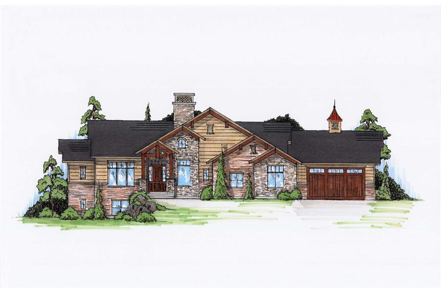 Craftsman House Plans Home Design Vh R2110