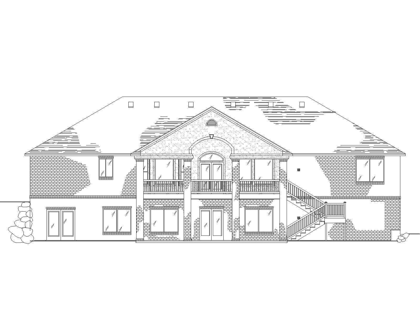 Traditional House Plans Home Design Vh R2247