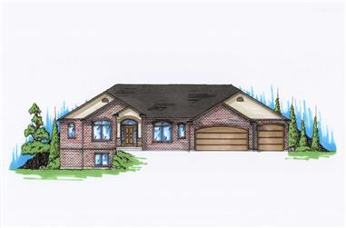 6-Bedroom, 2247 Sq Ft Ranch House Plan - 135-1143 - Front Exterior