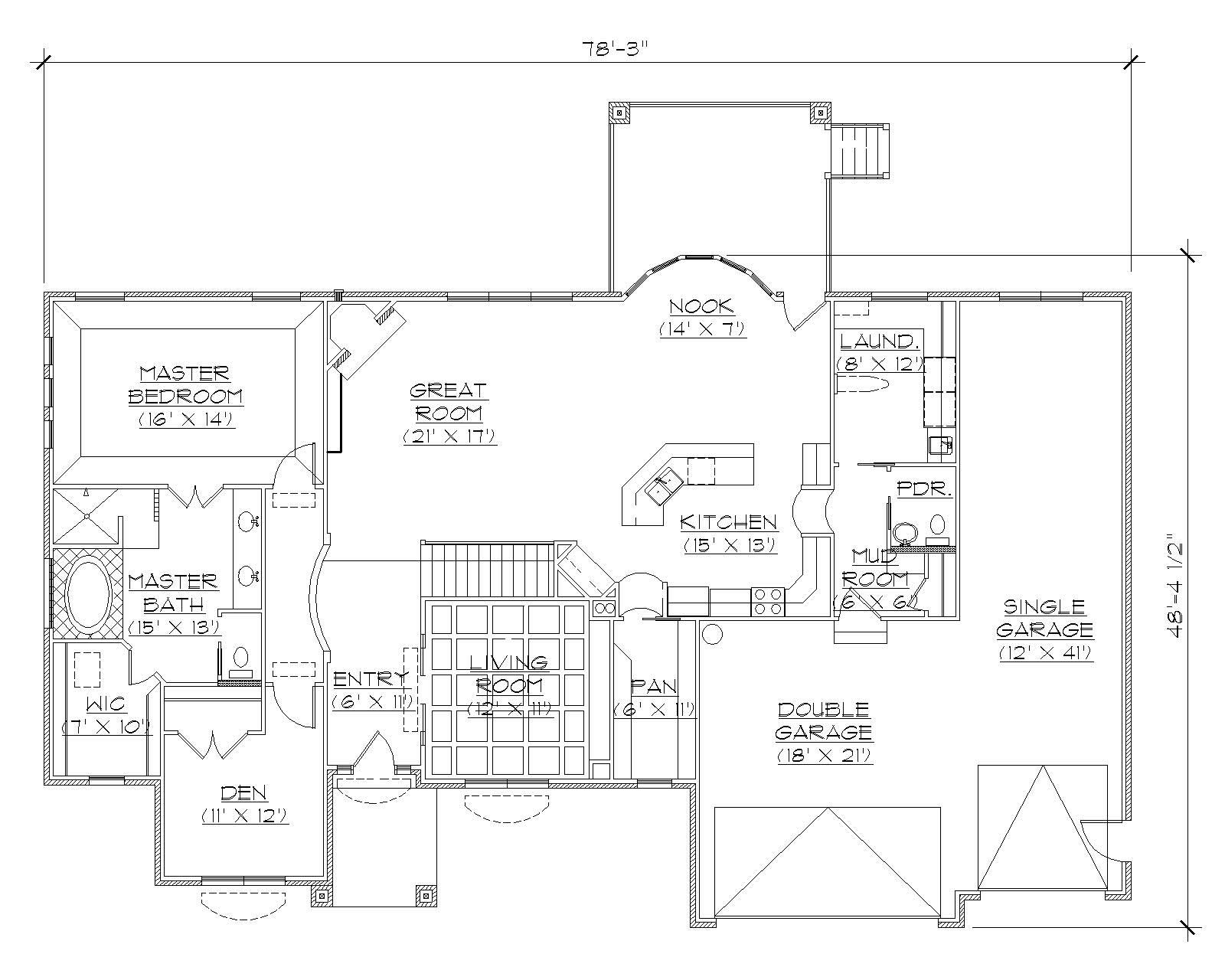 Traditional House Plans Home Design Vh R2230