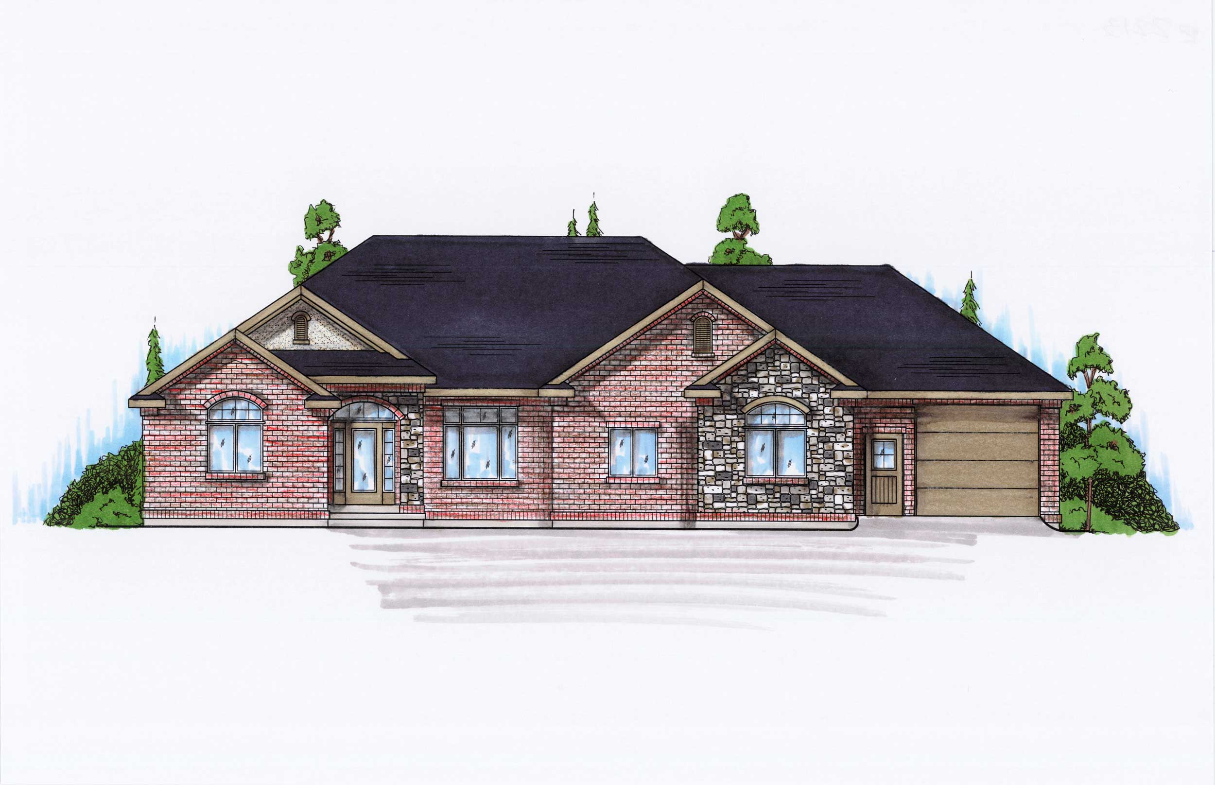 Traditional House Plans Home Design Vh R2213