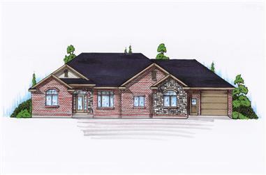 3-Bedroom, 2213 Sq Ft Ranch Home Plan - 135-1145 - Main Exterior