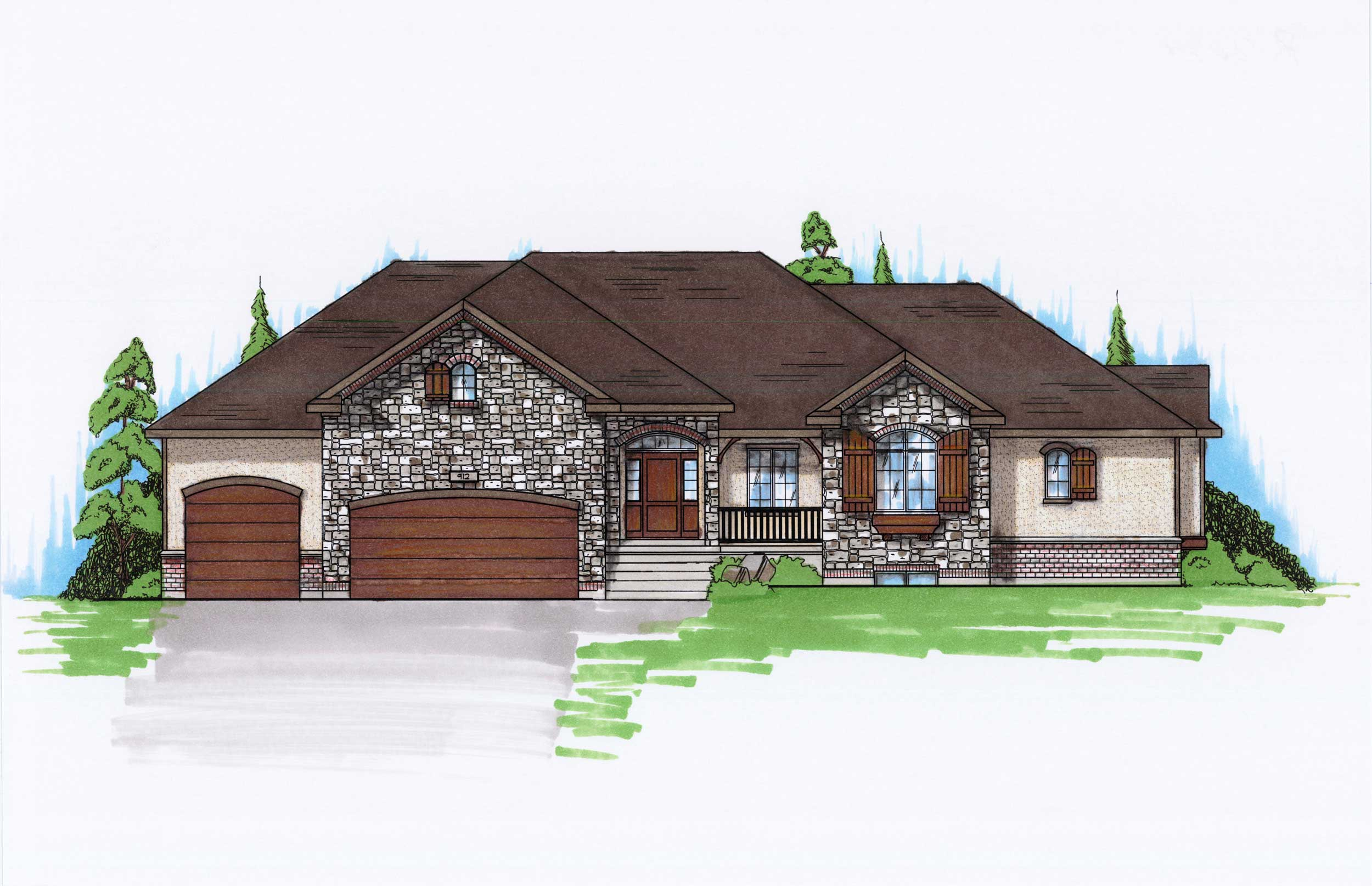 Traditional House Plans Home Design Vh R2074