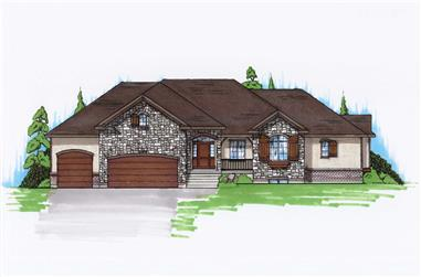 6-Bedroom, 2074 Sq Ft Ranch House Plan - 135-1146 - Front Exterior