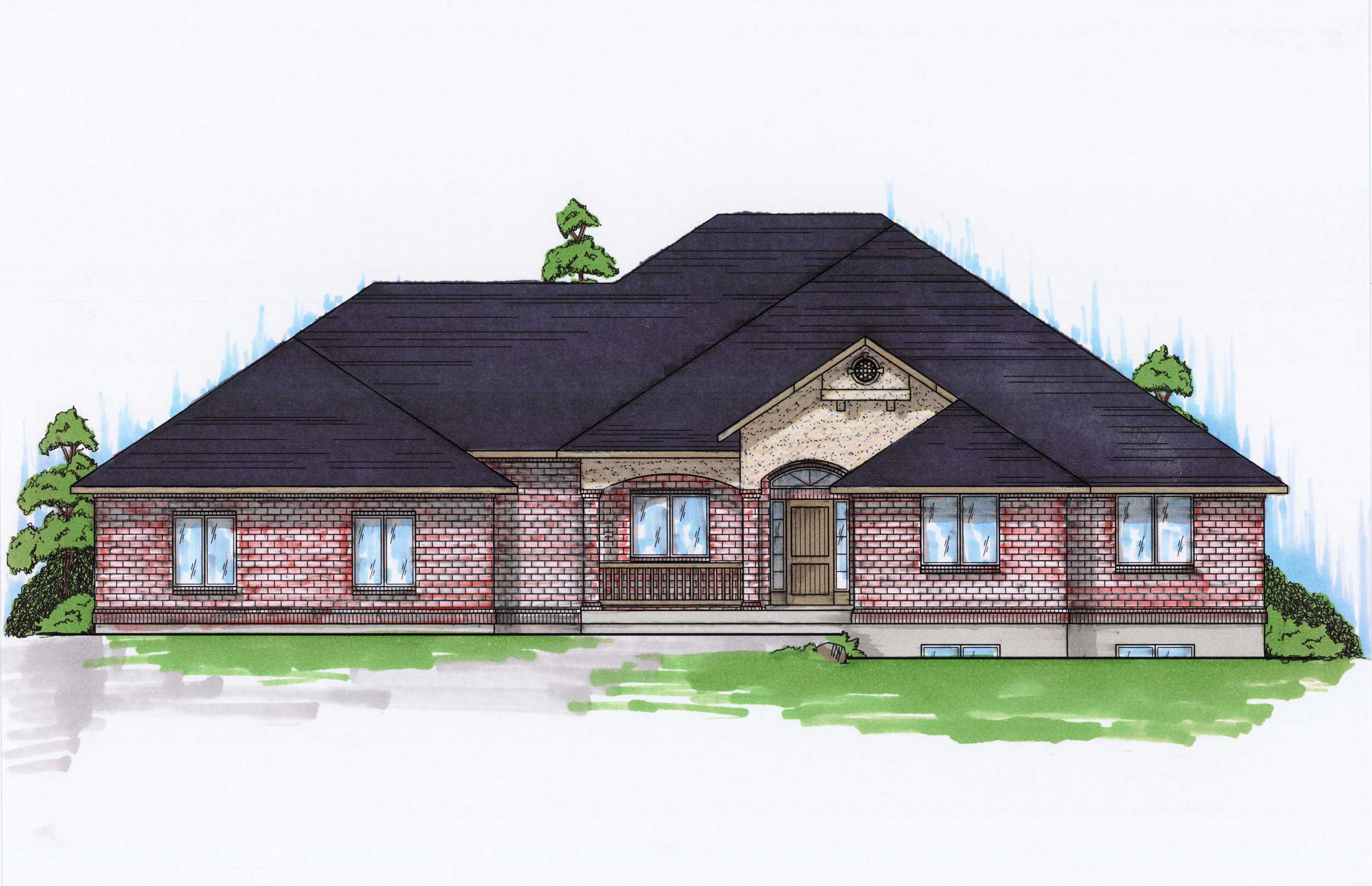 Traditional House Plans Home Design Vh R2060b