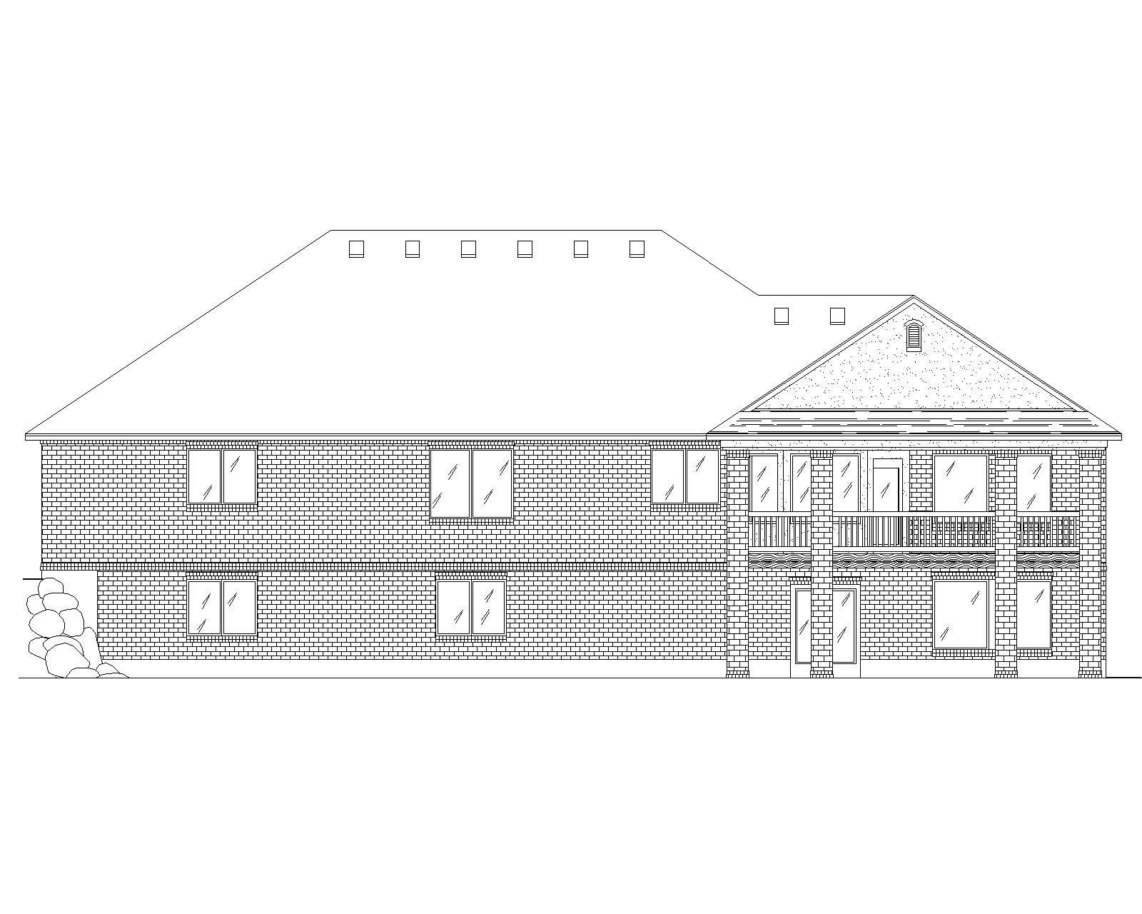 Traditional House Plans Home Design Vh R1991
