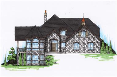 5-Bedroom, 3711 Sq Ft European House Plan - 135-1151 - Front Exterior
