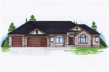 3-Bedroom, 2162 Sq Ft Ranch Home Plan - 135-1156 - Main Exterior