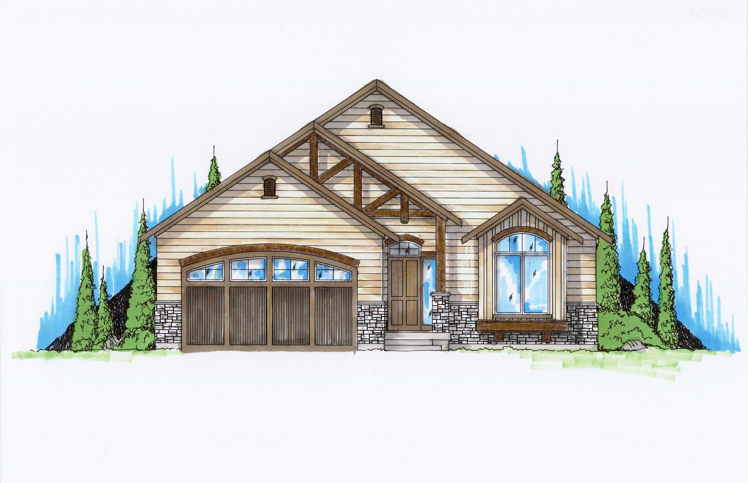 Craftsman house plans home design vh r1454 - Craftman style home plans collection ...