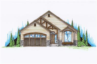 5-Bedroom, 1454 Sq Ft Craftsman House Plan - 135-1158 - Front Exterior