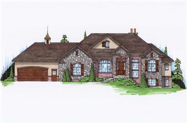 5-Bedroom, 2113 Sq Ft European Home Plan - 135-1159 - Main Exterior