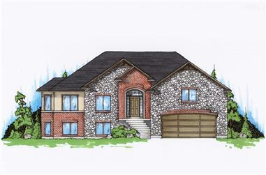5-Bedroom, 1644 Sq Ft Small House Plans - 135-1160 - Front Exterior