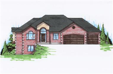 3-Bedroom, 1906 Sq Ft Ranch House Plan - 135-1162 - Front Exterior
