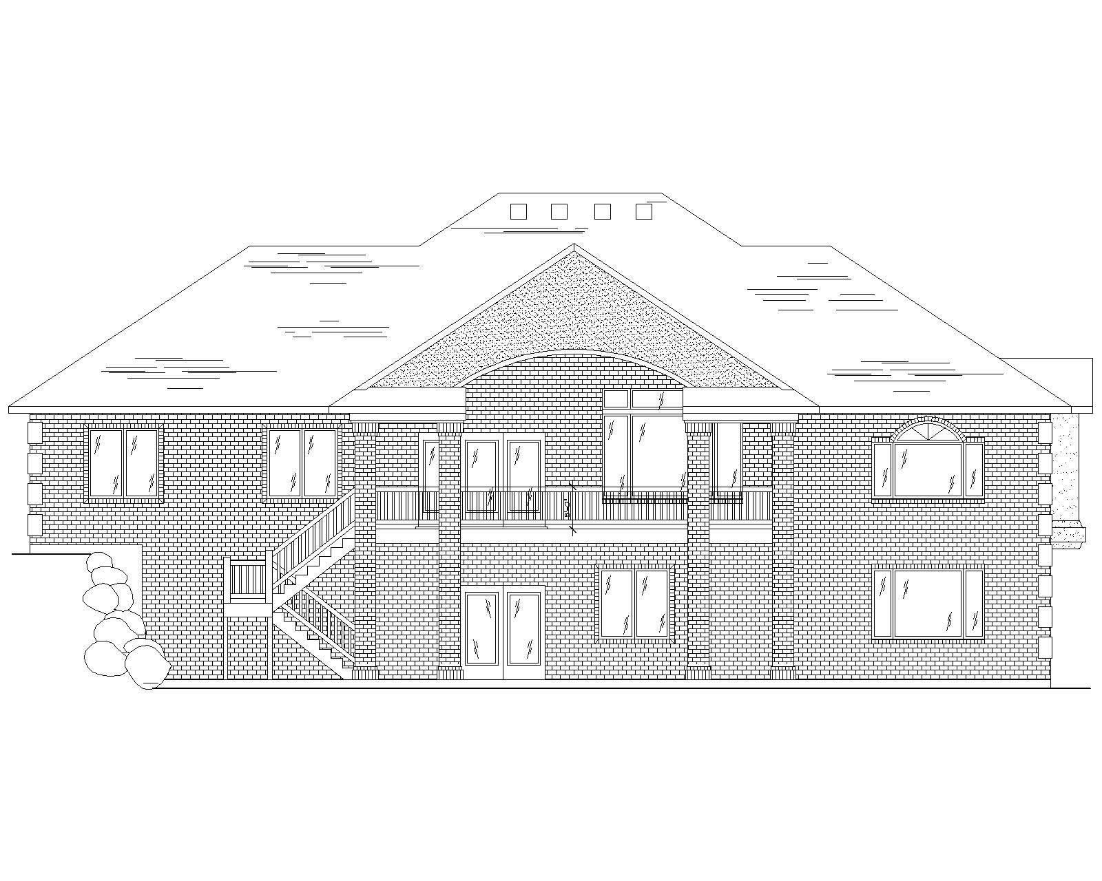 Traditional House Plans Home Design Vh R1906a