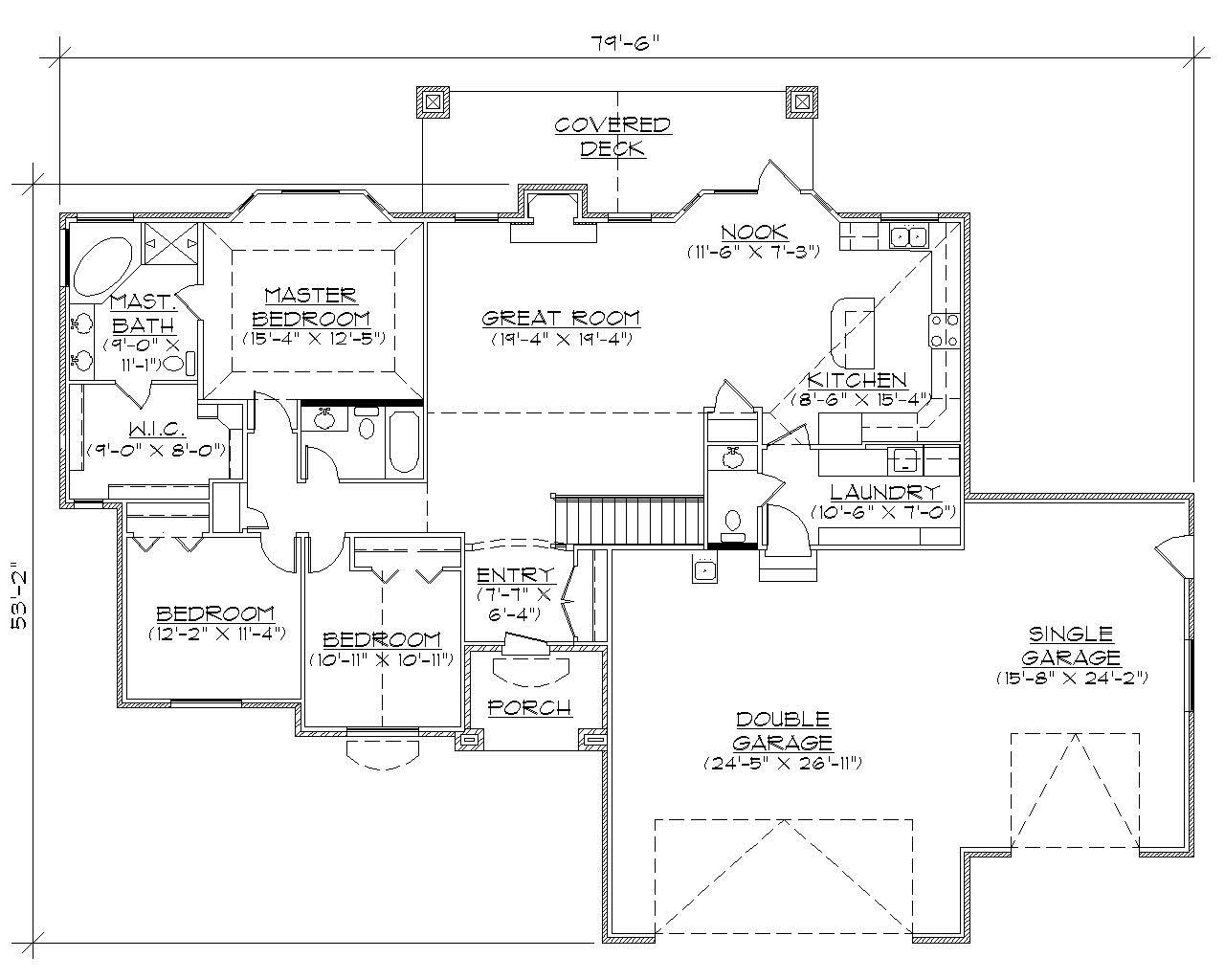 Traditional House Plans Home Design Vh R1905
