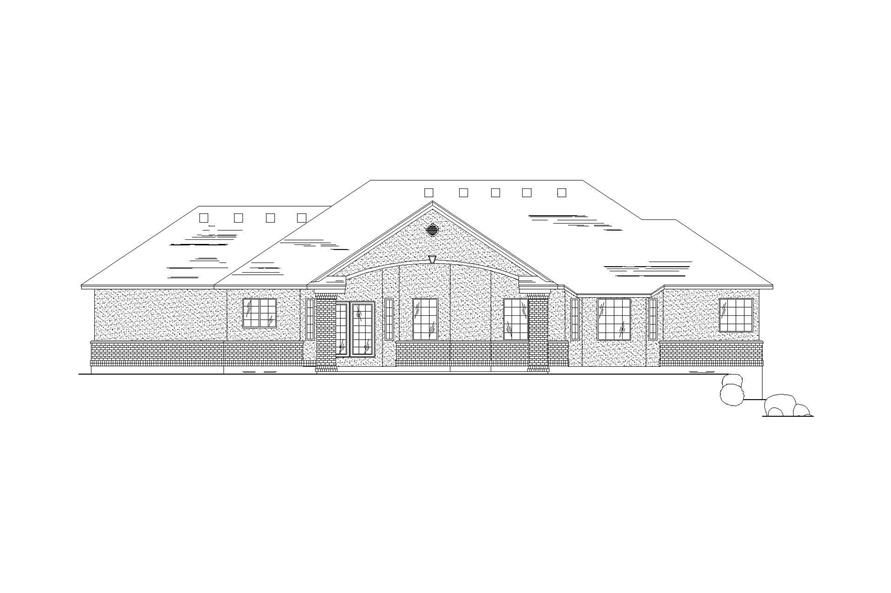 Home Plan Rear Elevation of this 5-Bedroom,1905 Sq Ft Plan -135-1163