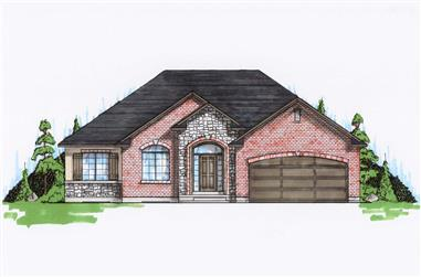 5-Bedroom, 1710 Sq Ft Small House Plans - 135-1165 - Main Exterior