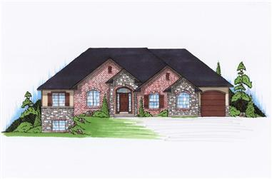 5-Bedroom, 1821 Sq Ft Ranch House Plan - 135-1166 - Front Exterior