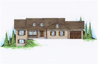 6-Bedroom, 1798 Sq Ft Small House Plans - 135-1167 - Front Exterior