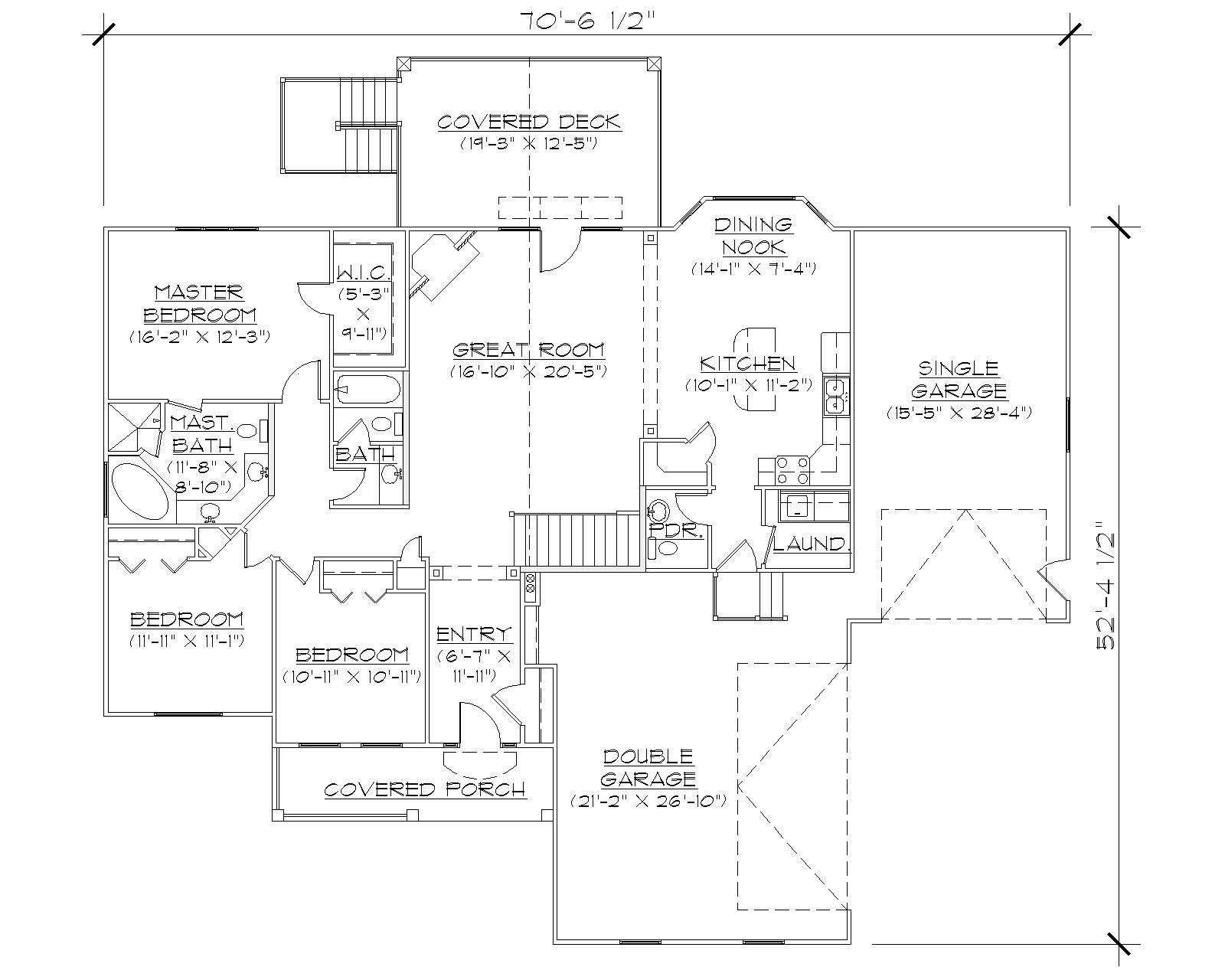 Traditional House Plans Home Design Vh R1798