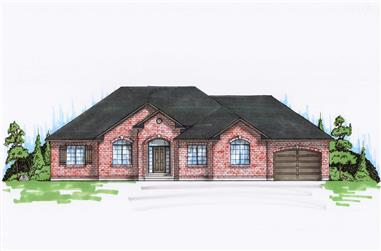 6-Bedroom, 1777 Sq Ft Small House Plans - 135-1168 - Front Exterior