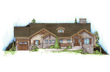 3-Bedroom, 1761 Sq Ft Rustic House Plan - 135-1169 - Front Exterior